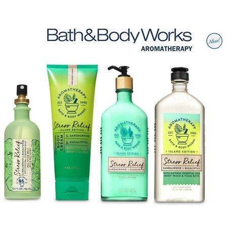Eucalyptus Spa Bath (Bath and Body Works SANDALWOOD EUCALYPTUS Deluxe Spa Set Aromatherapy STRESS RELIEF ~ Body Wash & Foam Bath - Body Lotion ~ All Over Mist & Body Cream)