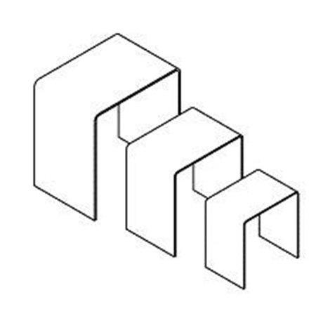 Plexi U Riser, Clear - Set of 3 - image 1 of 1