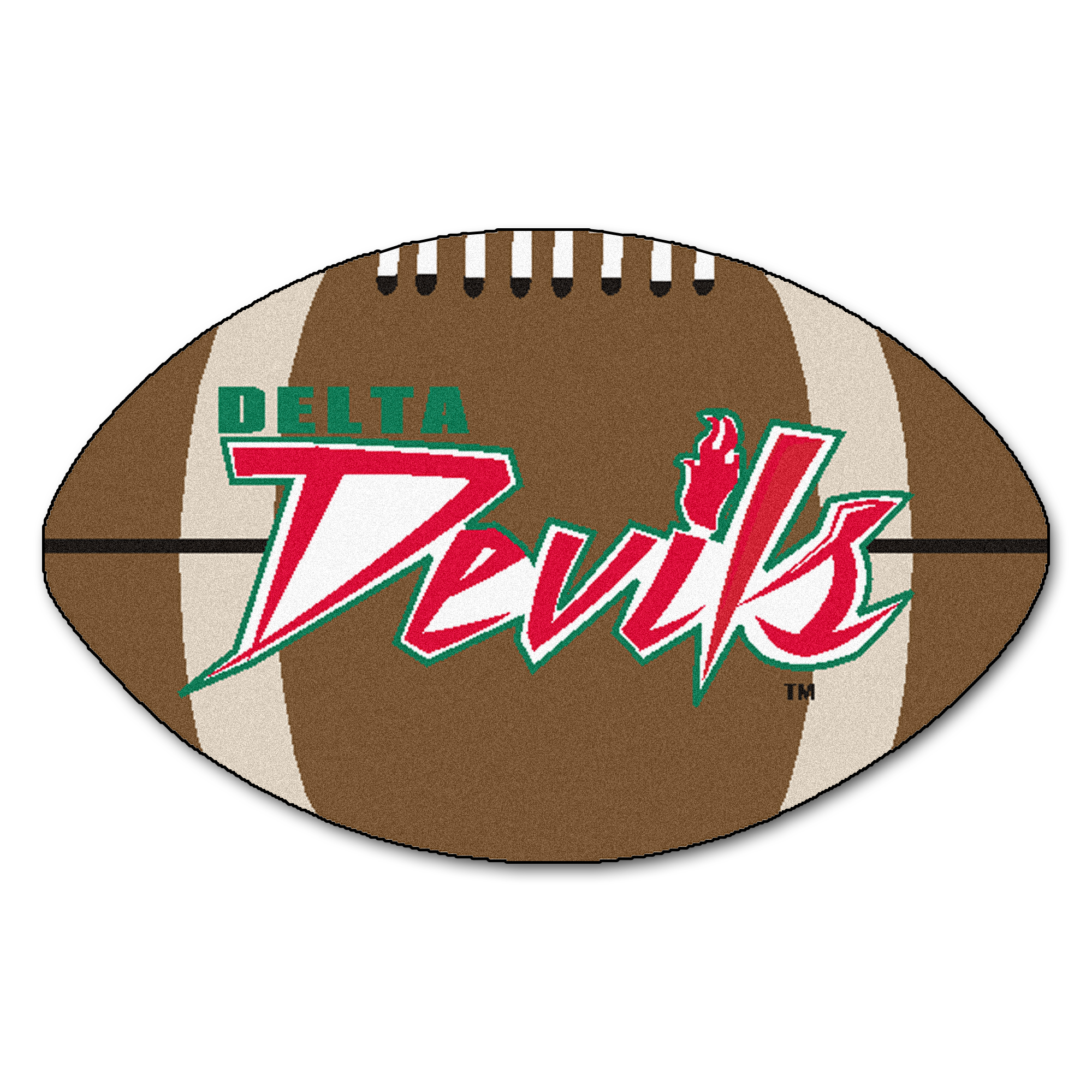 "Mississippi Valley State Football Rug 20.5""x32.5"""