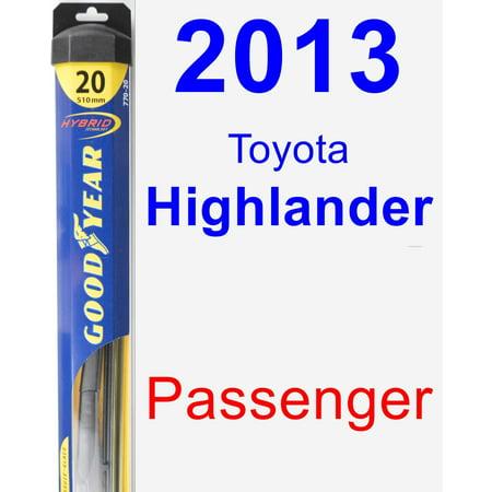 2013 Toyota Highlander Passenger Wiper Blade - Hybrid