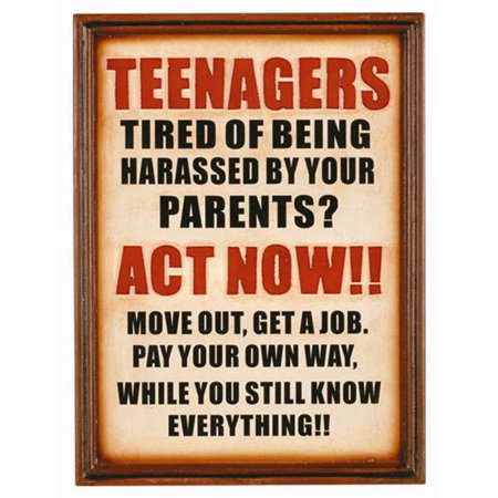framed patio sign teenagers act now walmart com