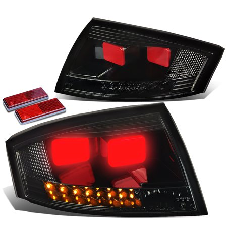 for 99-06 audi tt mk1 typ 8n pair of black housing smoked lens 3d led rear tail brake lights 00 01 02 03 04 05 Accent 00 01 02 Tail