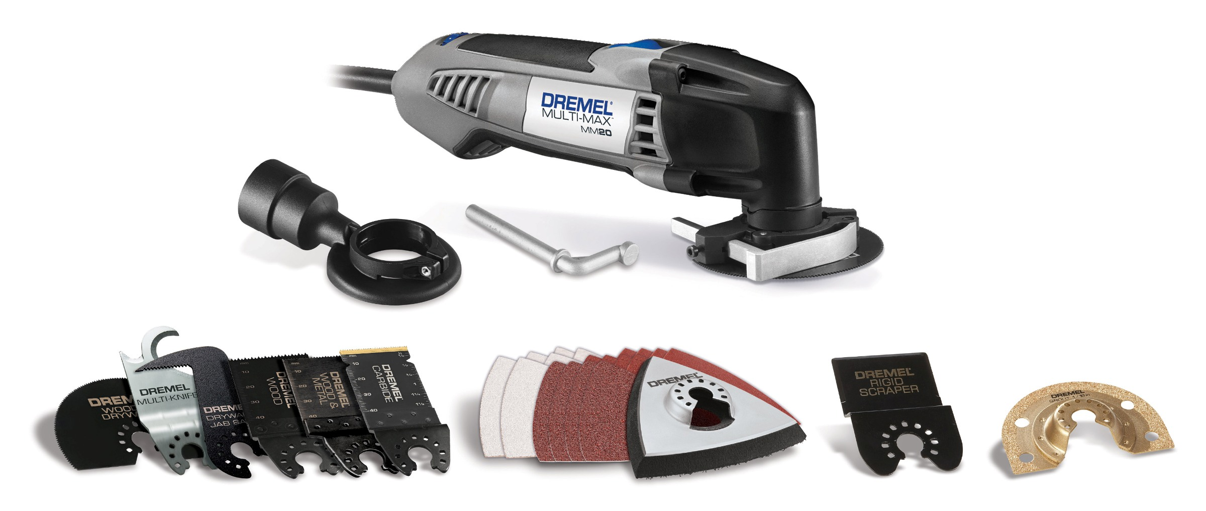 Dremel MM20-05 Multi-Max 2.3 Amp Corded Variable Speed Oscillating Multi-Tool Kit with 30... by Dremel