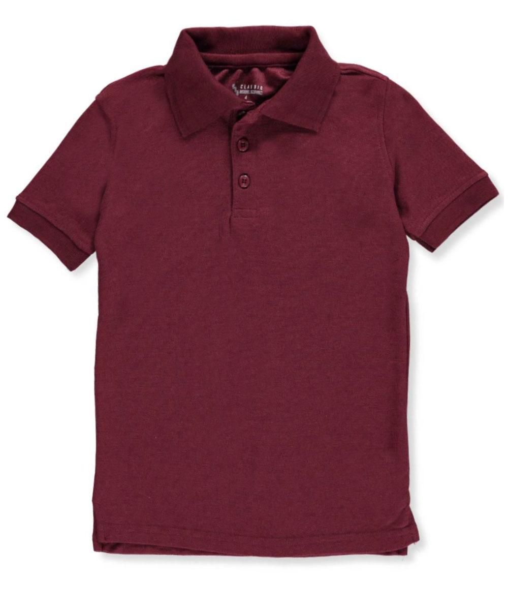 Classic School Uniform Little Boys' Toddler S/S Pique Polo Shirt (Sizes 2T - 4T)
