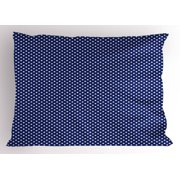 Navy Blue Pillow Sham Old Fashioned Polka Dots Pattern in Marine Colors Retro Nautical Inspiration, Decorative Standard Size Printed Pillowcase, 26 X 20 Inches, Navy Blue White, by Ambesonne