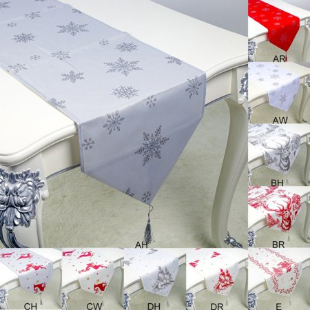 Table Runner For Christmas Table Runner With Printing Pattern Household Table Decoration ()