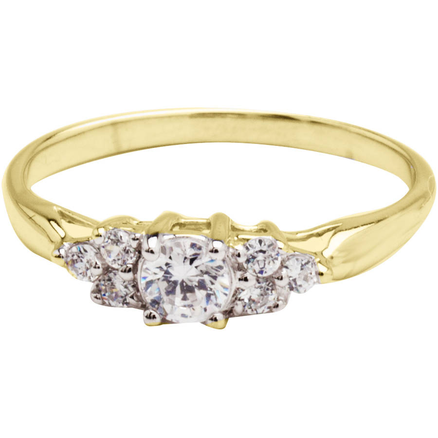 Believe by Brilliance .69 Carat T.G.W. CZ 10kt Yellow Gold Engagement Ring