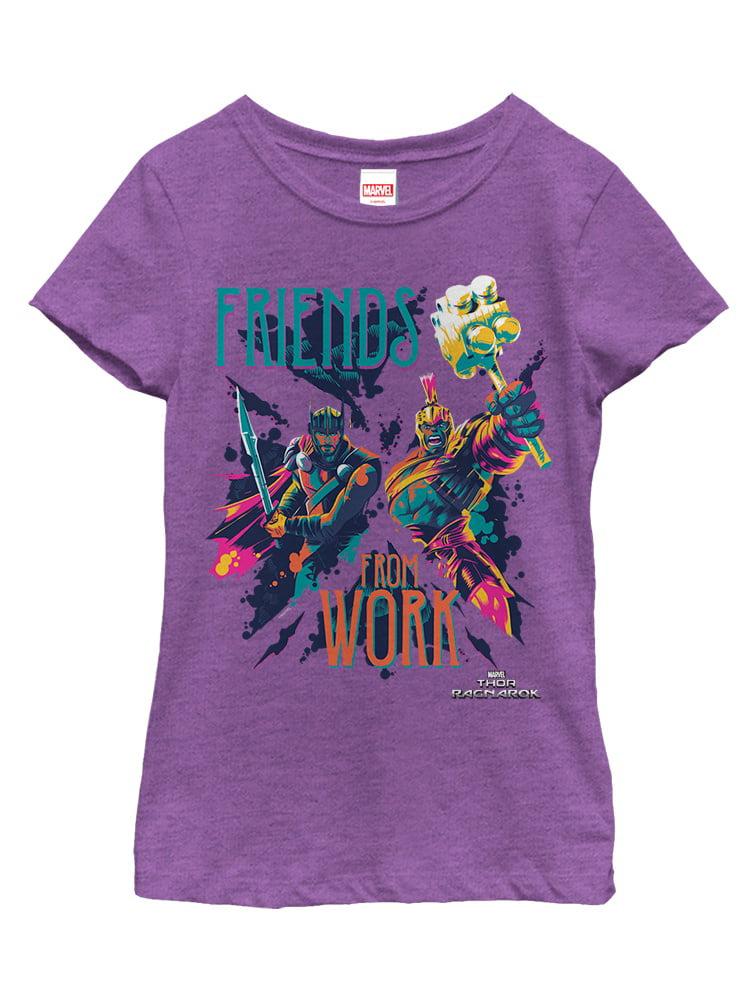 Marvel Girls' Thor: Ragnarok Friends Work T-Shirt