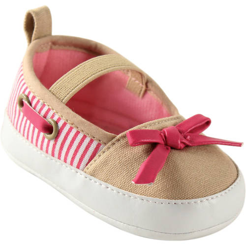 Luvable Friends Newborn Baby Girl Boating Flats