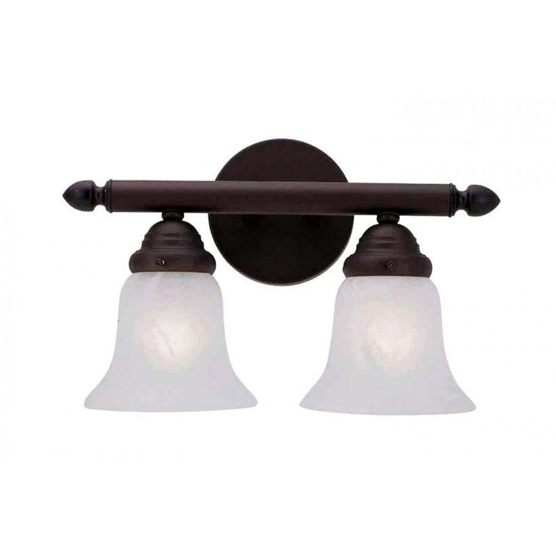 Livex Lighting 1062P Neptune 2 Light Bathroom Vanity Light