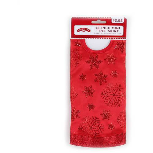 Holiday Time 4-Piece Red Christmas Tree Kit