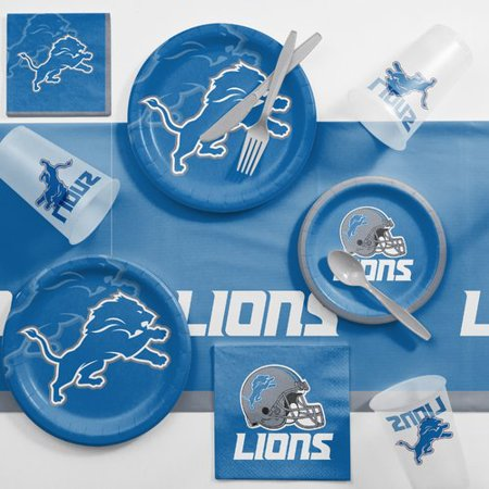 Detroit Lions Game Day Party Supplies Kit (Halloween Parties In Detroit 2017)