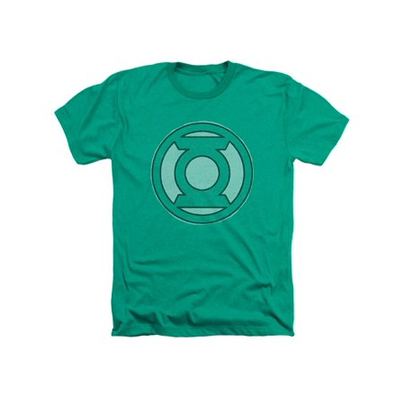 Green Lantern DC Com Original Classic Lantern Ring Logo Faded Adult HA T-Shirt