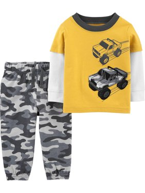 Child of Mine by Carter's Baby Boy Long Sleeve Shirt and Pant Set, 2 pc set