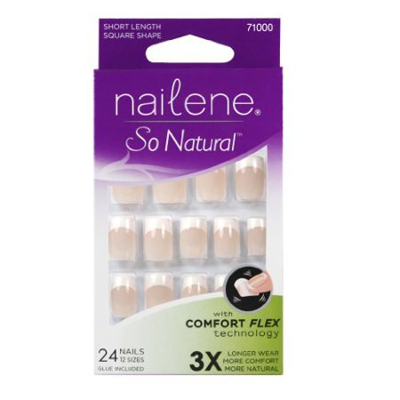 Nailene So Natural Nails, Pink, 36 ct.