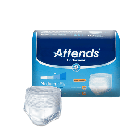 Attends Protective Underwear with DermaDry™ Technology for Adults Incontinence Care, Unisex (Choose Your Size) - Teen Dipper