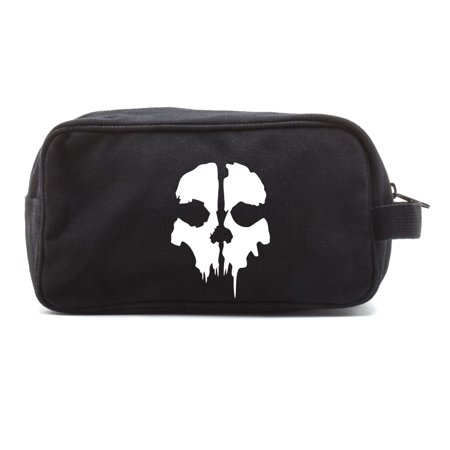 Call of Duty Ghost Skull Logo Canvas Shower Kit Travel Toiletry Bag