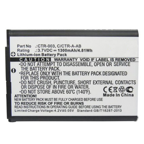 Replacement CTR-003 C/CTR-A-AB Battery for Nintendo 3DS N3DS CTR-001 MIN-CTR-001 Gaming Console with Installation Tool