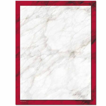 Red Laser Inkjet Paper - Red Marble Letterhead Laser & Inkjet Printer Paper