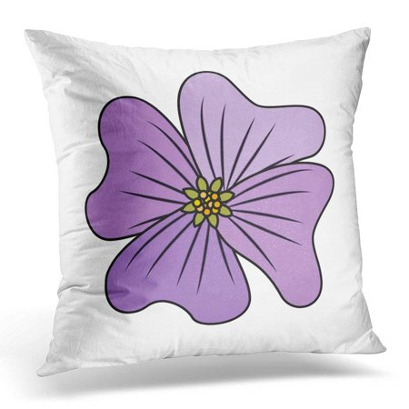 ARHOME Green Abstract Flower Periwinkle Delicate Floral Nature Petals Pink Beautiful Pillow Case Pillow Cover 20x20 inch