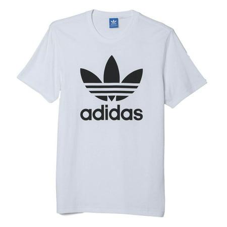 New Men's Adidas Original Authentic Trefoil Logo Tee Shirt T-Shirt Crewneck Graphic White