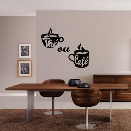 Coffee Cup Wall Stickers Poster Paster Decals Wallpaper Home Drawing Room Decoration Kitchen Tile - image 6 of 6