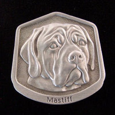 Mastiff Fine Pewter Dog Breed Ornament The sculpted image of your pet is surrounded with a wreath of holly and ivy. You will treasure this ornament for years to come. hey are made of Fine Pewter and come in a Christmas gift box for storing. Lindsay Claire is a Canadian manufacturer of Fine Pewter Gifts and Collectibles.  Each pewter item is cast in our shop from fine pewter and meticulously hand polished to a satin finish.Ornament is approximately 3  and has a satin cord attached for hanging.