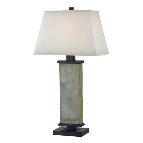 High Quality Kenroy Home Hanover Table Lamp, Natural Slate