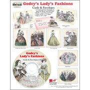 ScrapSMART Godey's Ladies' Fashions Cards and Envelopes CD-ROM, 1860s