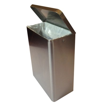 S.A.C. Sanitary Napkin Receptacle, Stainless Steel
