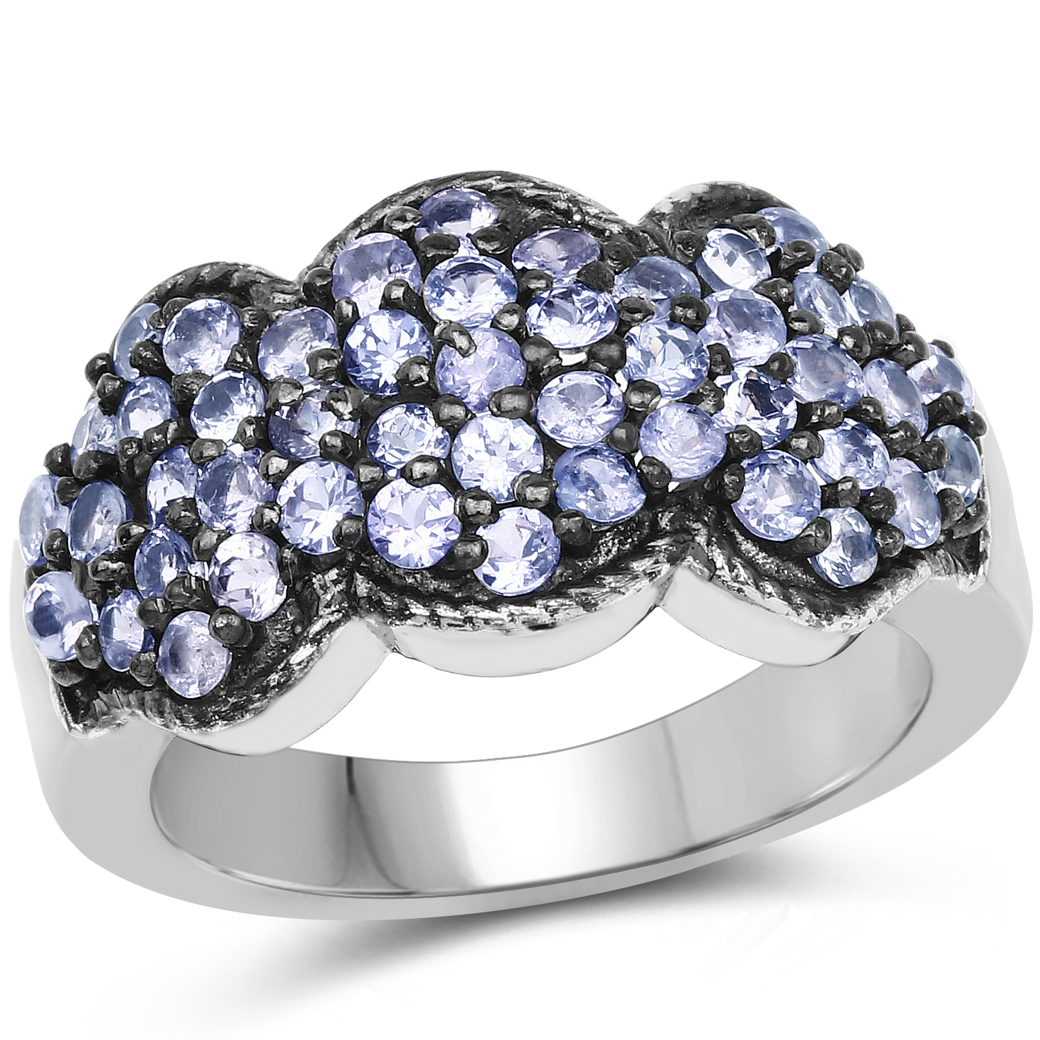 1.41 ct. Genuine Tanzanite Sterling Silver Ring by DAZYLE