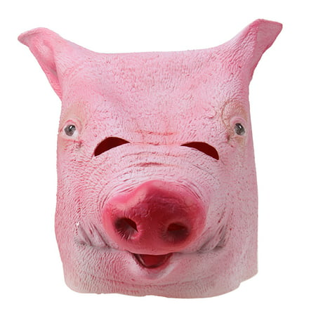Halloween Party Decorations Creepy PIG head latex Rubber Mask Perfect for Harlem Shake& Gangnam Style - Make Your Own Latex Halloween Masks