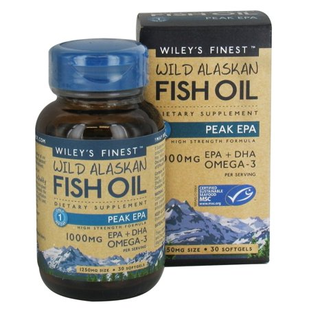 wiley 39 s finest wild alaskan fish oil 1000mg epa dha