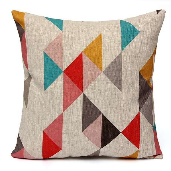 Meigar Simple Geometric Couch Cushion Pillow Covers 18x18 Square