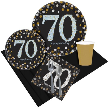 Sparkling Celebration 70th Birthday Party Pack for 8