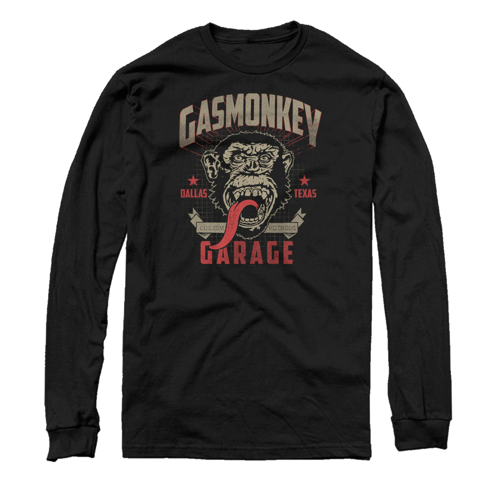 Gas Monkey Motor Mens Graphic Long Sleeve Shirt