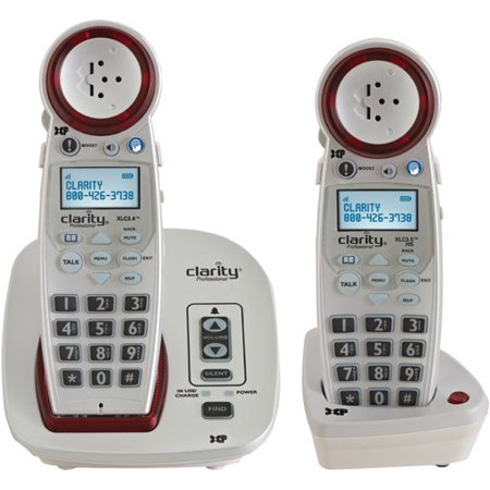 Clarity XLC3.4 DECT 6.0 Extra-Loud Big Button Phone System with Talking Caller ID by