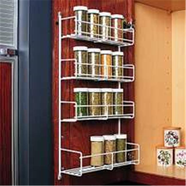 Feeny Fesr 18Wh 13-. 75 inch Wide 4-Tier Spice Rack - White