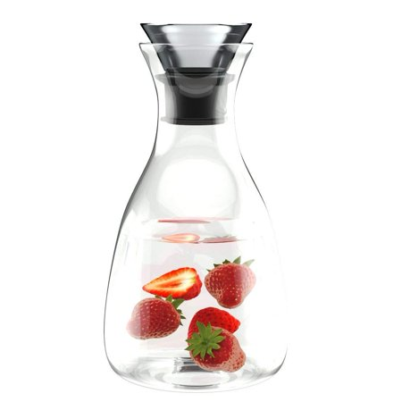 10ca8245a8a6 60oz Borosilicate Glass Carafe - Water Bottle with Drip-Free Lid by Comfify  - Glass Carafe Pitcher for Hot & Chilled Beverages w/Stainless Steel Lid,  ...