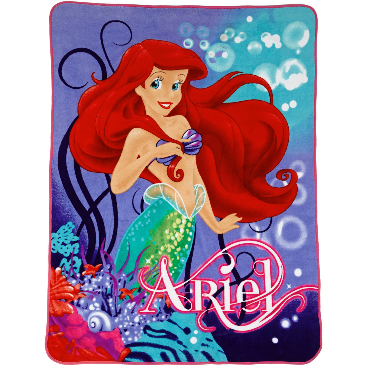"Disney Little Mermaid ""Sea Garden"" Twin Throw"