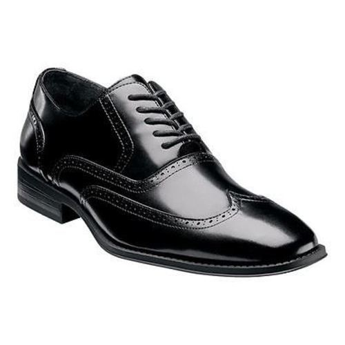 Stacy Adams WARDELL Mens Black Oxford Wing Tip Dress Shoes (Medium (D, M), 8)