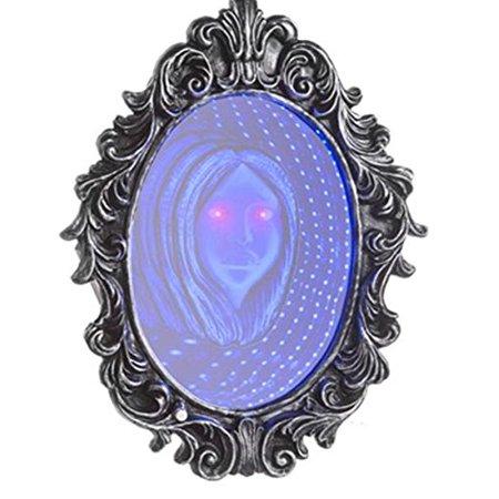 Haunted Infinity Mirror Halloween Prop, By Gemmy](Halloween Mirror Illusion)