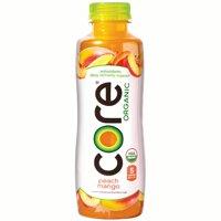 CORE Organic Peach Mango Fruit Infused Beverage, 18 Fl Oz Bottles, 12 Count