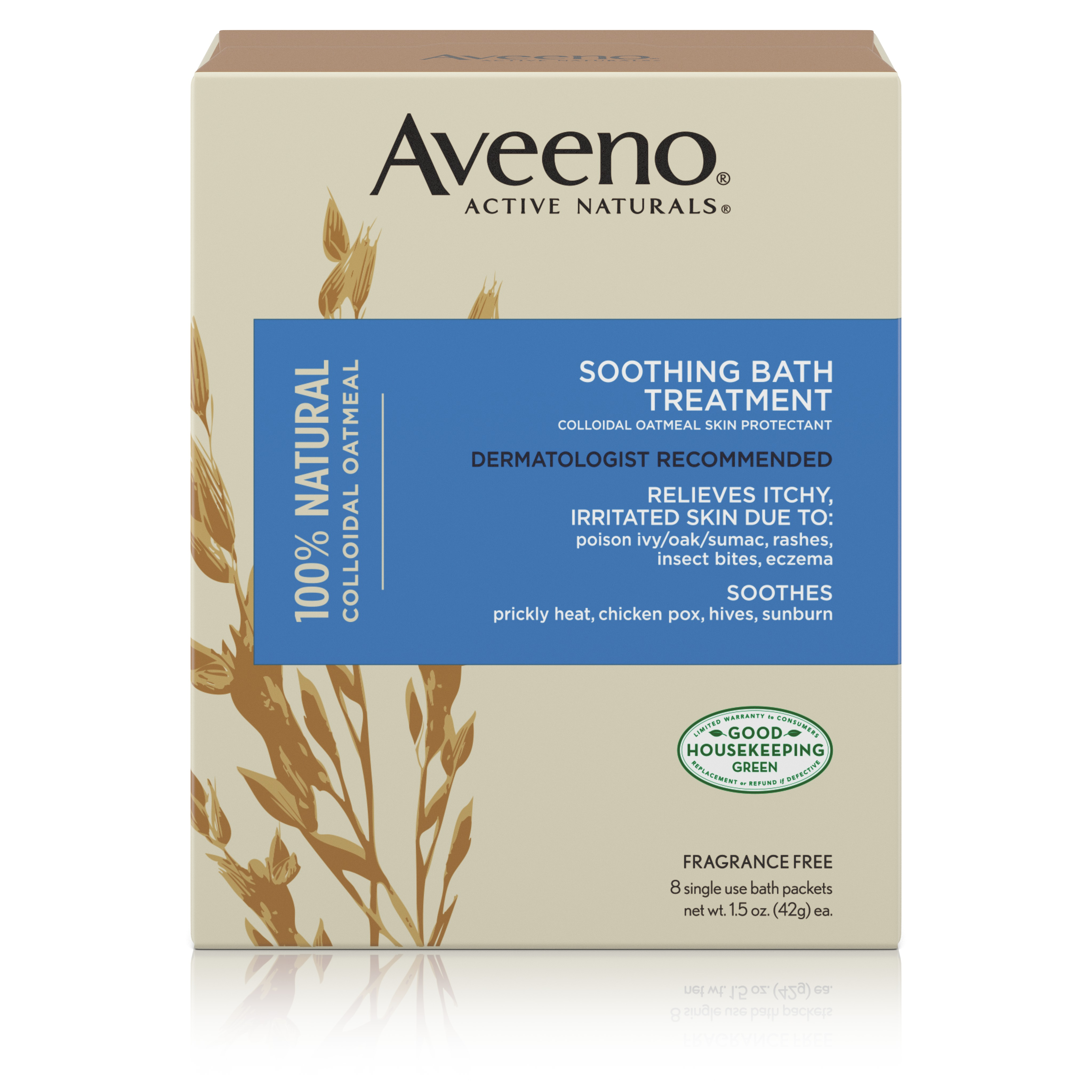 Aveeno Active Naturals Soothing Bath Treatment, 8 Single Use Packets - Walmart.com