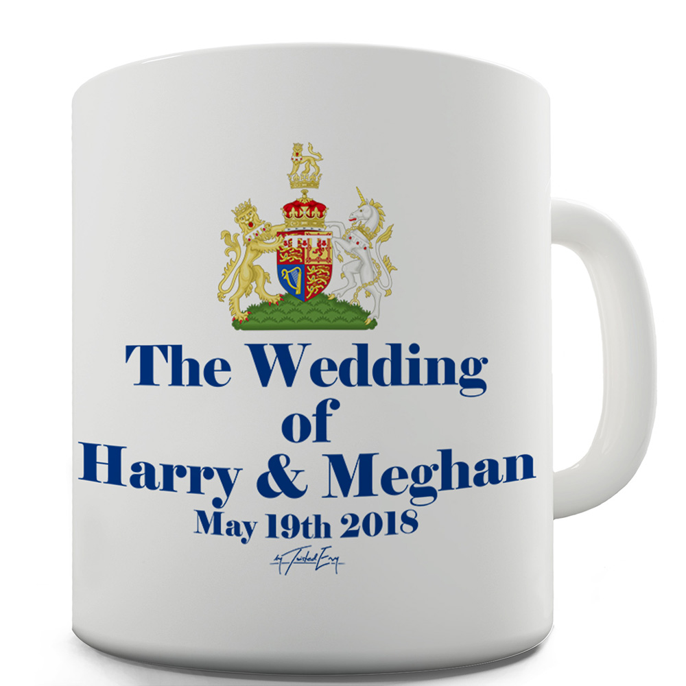 15 OZ Funny Mugs For Men Royal Wedding Harry And Meghan