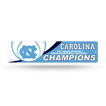 North Carolina Tar Heels Official Ncaa 16  X 4  Championship Basketball Champs 2017 Street Wall Sign 16X4 By Rico 332950