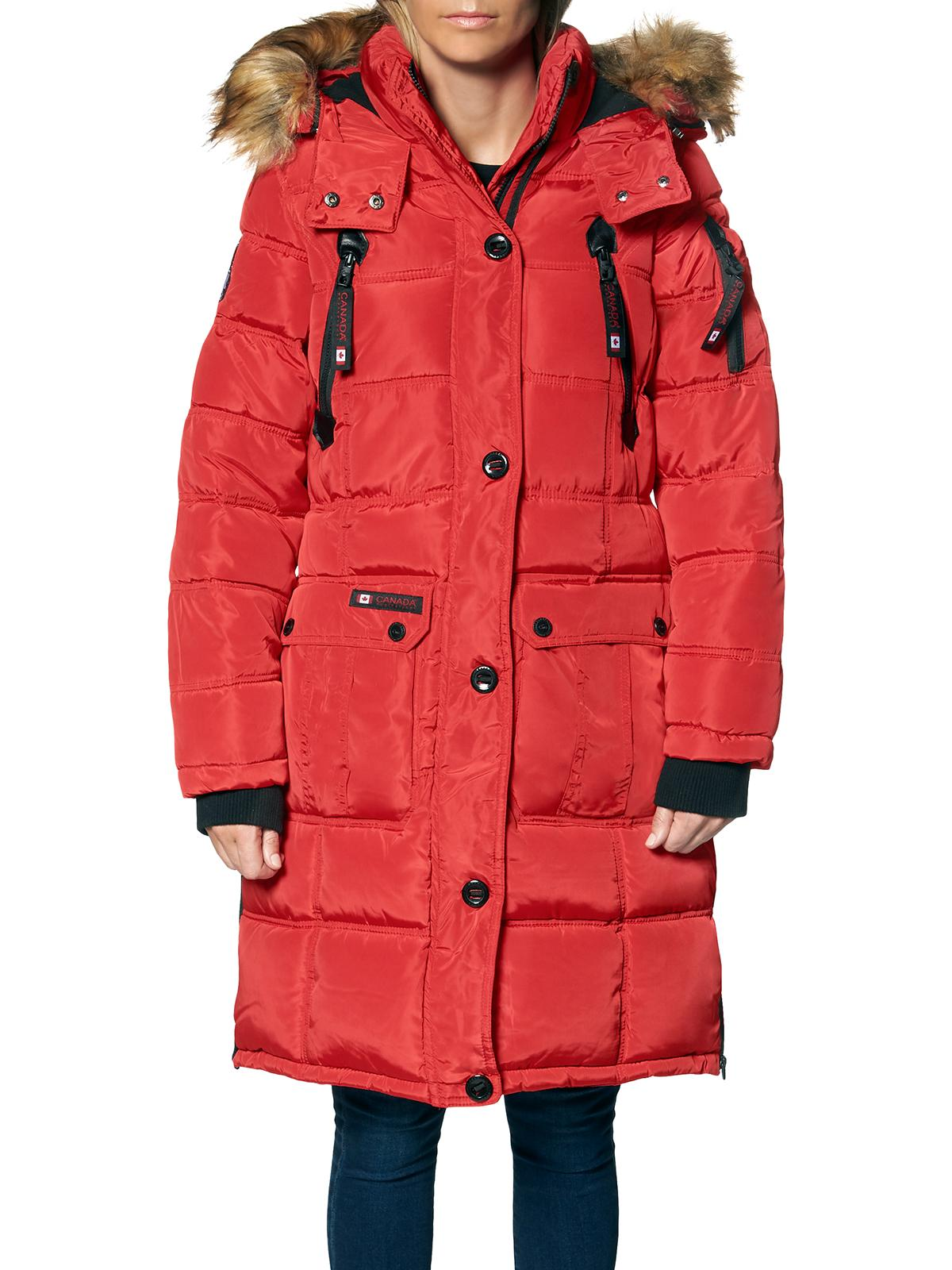 CANADA WEATHER GEAR Girls Winter Coat Heavyweight Anorak Parka Jacket with Removable Faux-Fur Lined Hood