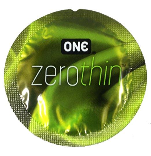ONE Zero Thin Condoms with Silver Pocket Travel Case, Premium Lubricated Ultra Sensitive Latex Condoms-24 Count