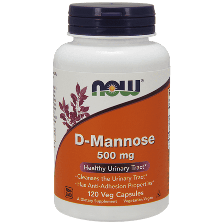 NOW D-Mannose Vegetarian Capsules, 500mg, 120 Ct
