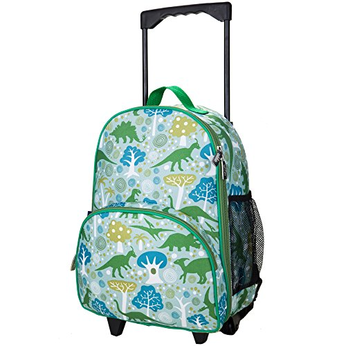 Wildkin Rolling Luggage, Features Telescopic Top Grab Handle with Convenient Extras for Quick and Easy Organization - Dinomite Dinosaurs - image 1 of 1